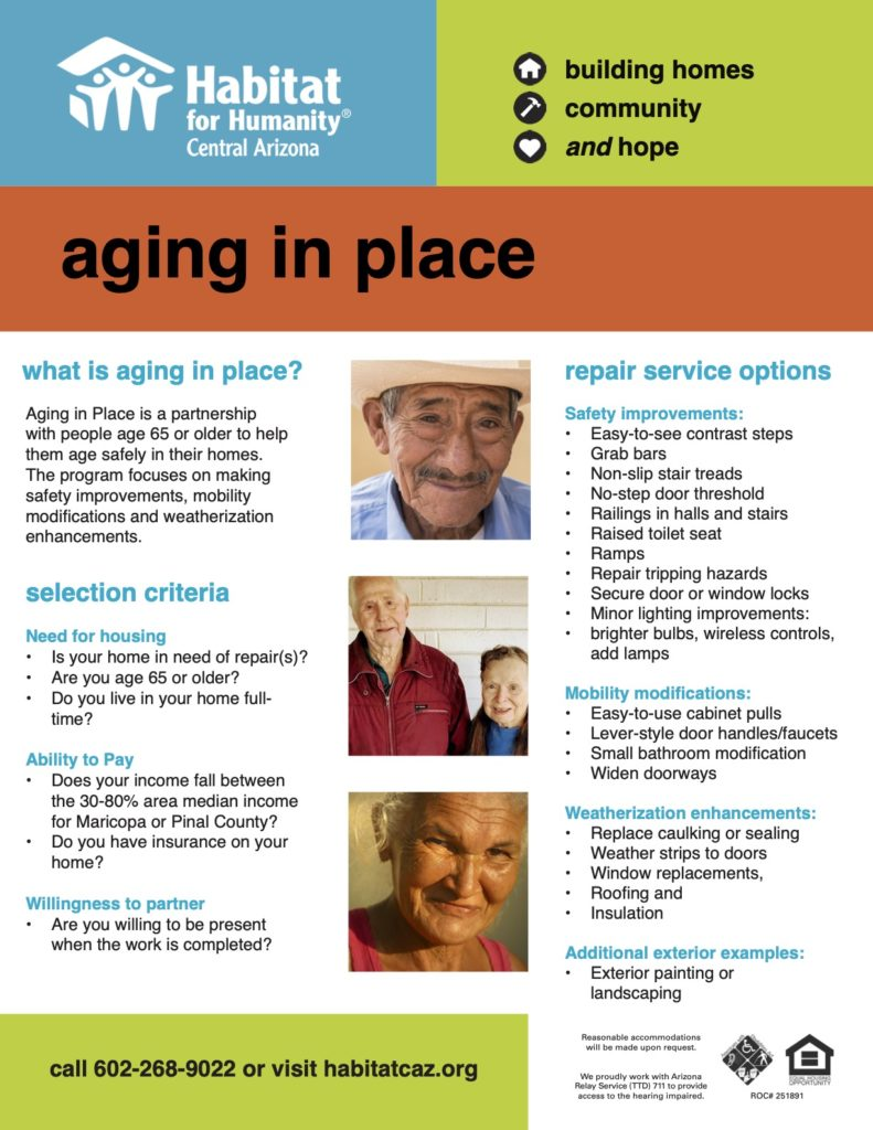 Aging In Place – Habitat for Humanity